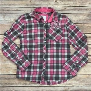 Justice Pink Flannel